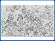 Boceto página Pinocho
